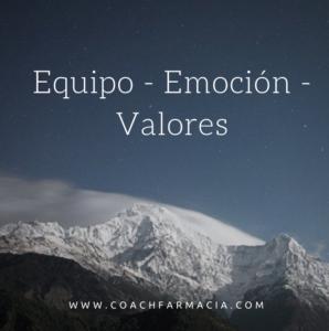 Equipo valores emocion