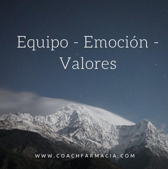 Equipos, emociones y muchos valores